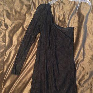love, Fire Dresses - Love Fire Black Lace one shoulder dress size small
